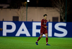 SAINT-GERMAIN-EN-LAYE, FRANCE - Wednesday, November 28, 2018: Liverpool's Rhys Williams during the UEFA Youth League Group C match between Paris Saint-Germain Under-19's and Liverpool FC Under-19's at Stade Georges-Lefèvre. (Pic by David Rawcliffe/Propaganda)