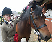 20/08/2015 Sarah Harper and Lakeside Rosie at  the Connemara Pony Show 2015 in Clifden Co. Galway . Photo:Andrew Downes
