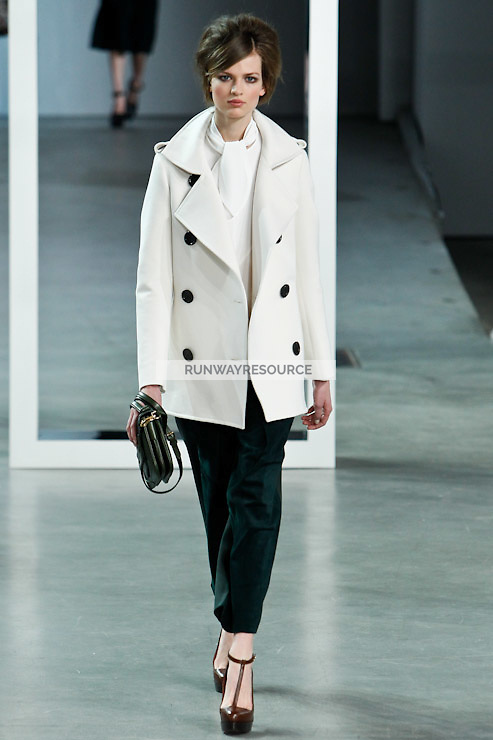 Bette Franke walks down runway for F2012 Derek Lam's collection in Mercedes Benz fashion week in New York on Feb 10, 2012 NYC