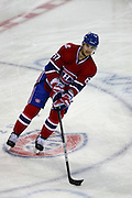 17 November 2009: Montreal Canadiens' Max Pacioretty during the warm-up session prior to the first period against Carolina Hurricanes at the Bell Centre in Montreal, Quebec, Canada. Montreal Canadiens defeated Carolina Hurricanes 3-2 after a shootout.