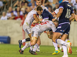 June 16, 2018 - Houston, Texas, US - Scotland Men's Rugby Team Sam Hidalgo-Clyne (21)during the Emirates Summer Series 2018 match between USA Men's Team vs Scotland Men's Team at BBVA Compass Stadium, Houston, Texas (Credit Image: © Maria Lysaker via ZUMA Wire)