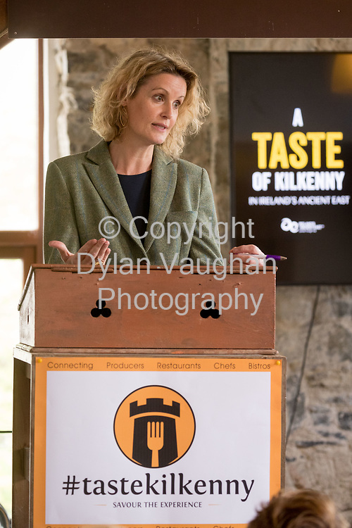Repro Free No charge for Repro<br /> <br /> 24-4-17<br /> <br /> Helen Carroll of RTE&rsquo;s Ear to the Ground launched the next phase of #TasteKilkenny on Monday, 24th April at a lunch event at Highbank Orchards &amp; Distillery, Cuffesgrange, Co Kilkenny.<br /> <br /> Pictured at the launch is Helen Carroll of RTE&rsquo;s Ear to the Ground.<br />  <br /> An afternoon of tasting and presentations took place, including a welcome address by Cllr Matt Doran, Cathaoirleach and an update on the #TasteKilkenny initiative by Fiona Deegan. Followed by the official launch of the #TasteKilkenny website and videos.<br />  <br /> #TasteKilkenny was established as a collective of Kilkenny based producers and outlets to promote the vibrant food scene in Kilkenny and create a platform to showcase the very best of local food production. For more information see: www.TasteKilkenny.ie.<br /> <br /> Picture Dylan Vaughan.