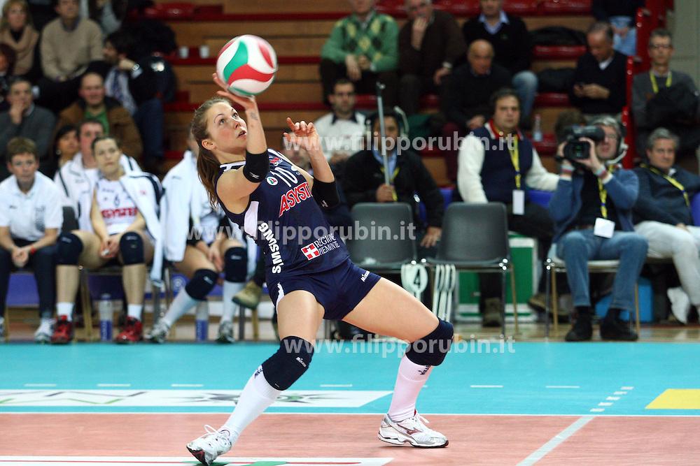 ASYSTEL VOLLEY NOVARA - RISO SCOTTI PAVIA.CAMPIONATO ITALIANO PALLAVOLO SERIE A1-F 2010-2011.NOVARA 05-03-2011.FOTO FILIPPO RUBIN / LVF