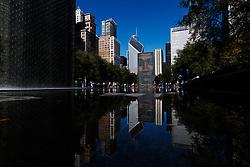 The crown fountain in Millennium Park, Chicago