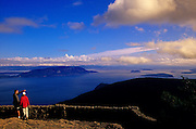 Image of Moran State Park and view from Mount Constitution on Orcas Island, San Juan Islands, Washington, Pacific Northwest, model released