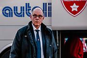 Attilio Caja ,Arrivo Varese<br /> Vanoli Cremona - Openjobmetis Varese<br /> LBA Lega Basket Serie A - 2018/19<br /> Firenze, 14/02/19<br /> Foto Silvia Fassi / Ciamillo