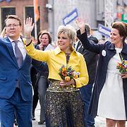 NLD/Groningen/20180427 - Koningsdag Groningen 2018,  Prins Constantijn en Prinses Laurentien en Prinses Annette
