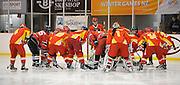China's Ice hockey team huddle before the match, 100% Pure New Zealand Winter Games, Ice Hockey. New Zealand v China at Dunedin Ice Stadium, Dunedin, New Zealand. Wednesday 17 August 2011. New Zealand. Photo: Richard Hood/photosport.co.nz
