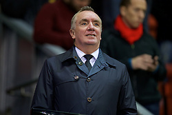 LIVERPOOL, ENGLAND - Wednesday, September 23, 2015: Liverpool's Managing Director Ian Ayre in the director's box before the Football League Cup 3rd Round match against Carlisle United at Anfield. (Pic by David Rawcliffe/Propaganda)