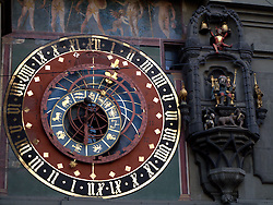 SWITZERLAND BERN 7JAN11 - Bern clocktower with medieval clock mechanism in Bern city centre...jre/Photo by Jiri Rezac..© Jiri Rezac 2011