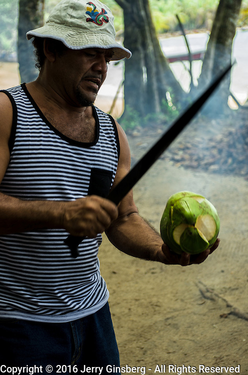 Central America, Centro America, Latin America, Latin, tropical, Costa Rica, Puerto Viejo, Caribbean, Manzanillo Wildlife Refuge, Manzanillo, Local culture is offered in the Manzanillo Wildlife Refuge, Costa Rica.