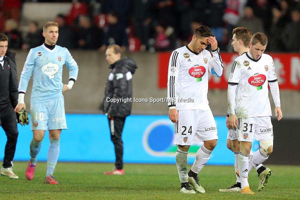 DECEPTION LORIENT /  Wesley LAUTOA  - 24.01.2015 - Guingamp / Lorient - 22eme journee de Ligue1<br />Photo : Vincent Michel / Icon Sport *** Local Caption ***