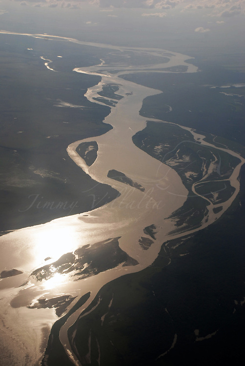 Vista aerea del rio Apure, estado Apure, Venezuela. ©Jimmy Villalta