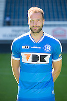 Gent's Laurent Depoitre pictured during the 2015-2016 season photo shoot of Belgian first league soccer team KAA Gent, Saturday 11 July 2015 in Gent.