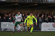 Hartlepool United defender Carl Magnay (2) tracks the ball during the Ryman Premier League match between Bognor Regis Town and Havant & Waterlooville FC at Nyewood Lane, Bognor, United Kingdom on 26 December 2016. Photo by Jon Bromley.