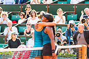 Madison Keys (usa) and Sloane Stephens (usa) during the Roland Garros French Tennis Open 2018, day 12, on June 7, 2018, at the Roland Garros Stadium in Paris, France - Photo Pierre Charlier / ProSportsImages / DPPI