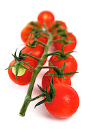 Studio shot of cherry tomatoes