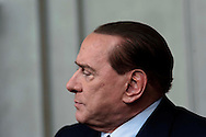 Roma, 21 Marzo 2013.Quirinale.Secondo giorno di  consultazioni con il Presidente della Repubblica per la formazione del nuovo Governo..La delegazione del centrodestra, con Silvio Berlusconi.