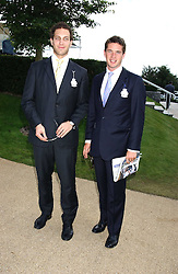 Left to right, LORD FREDERICK WINDSOR and the HON.JAMES TOLLEMACHE at the 4th day of the 2005 Glorious Goodwood horseracing festival at Goodwood Racecourse, West Sussex on 29th July 2005.    <br />