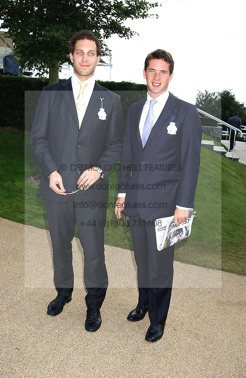 Left to right, LORD FREDERICK WINDSOR and the HON.JAMES TOLLEMACHE at the 4th day of the 2005 Glorious Goodwood horseracing festival at Goodwood Racecourse, West Sussex on 29th July 2005.    <br /><br />NON EXCLUSIVE - WORLD RIGHTS