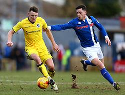 Ollie Clarke of Bristol Rovers takes on Ian Henderson of Rochdale - Mandatory by-line: Matt McNulty/JMP - 04/02/2017 - FOOTBALL - Crown Oil Arena - Rochdale, England - Rochdale v Bristol Rovers - Sky Bet League One