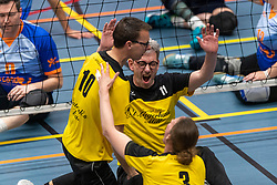 20-04-2019 NED: Dirk Kuyt Foundation Cup, Veenendaal<br /> National Cup sitting volleyball in Veenendaal / vv Apollo Mill vs. BVC Holyoke