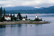 The small Indian Community of Bella Bella on the Inside Passage