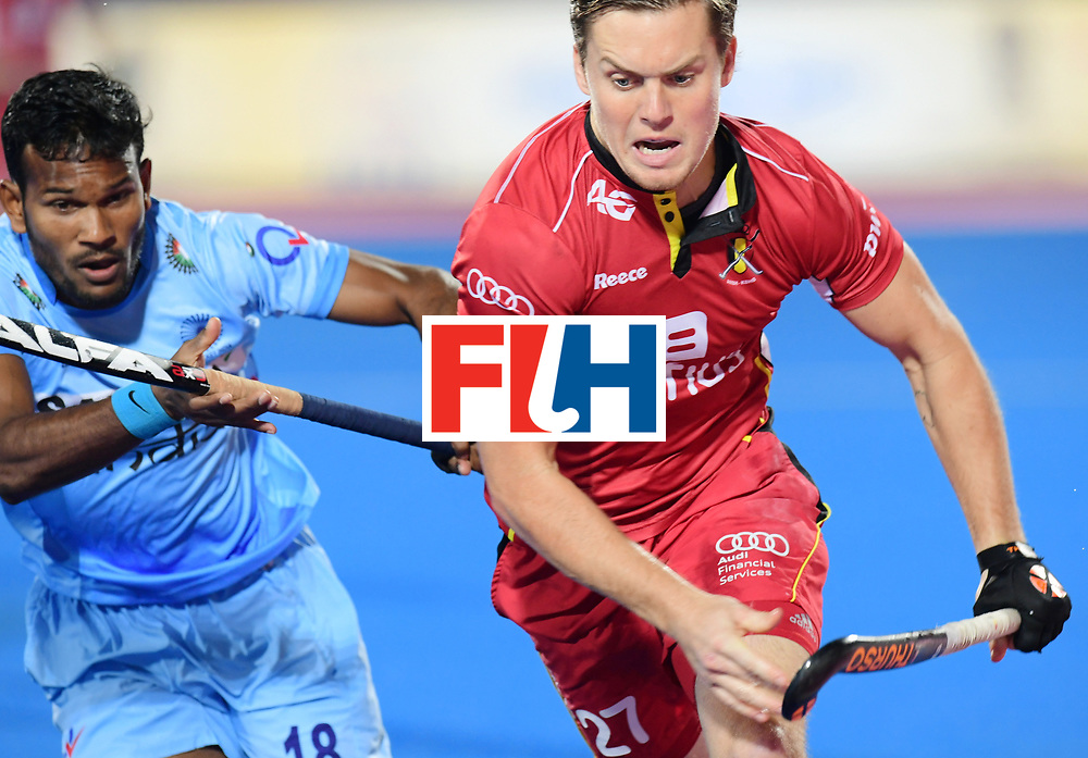 Odisha Men's Hockey World League Final Bhubaneswar 2017<br /> Match id:13<br /> Belgium v India<br /> Foto: Tom Boon (Bel) and Amit Rohidas (Ind)  <br /> COPYRIGHT WORLDSPORTPICS FRANK UIJLENBROEK