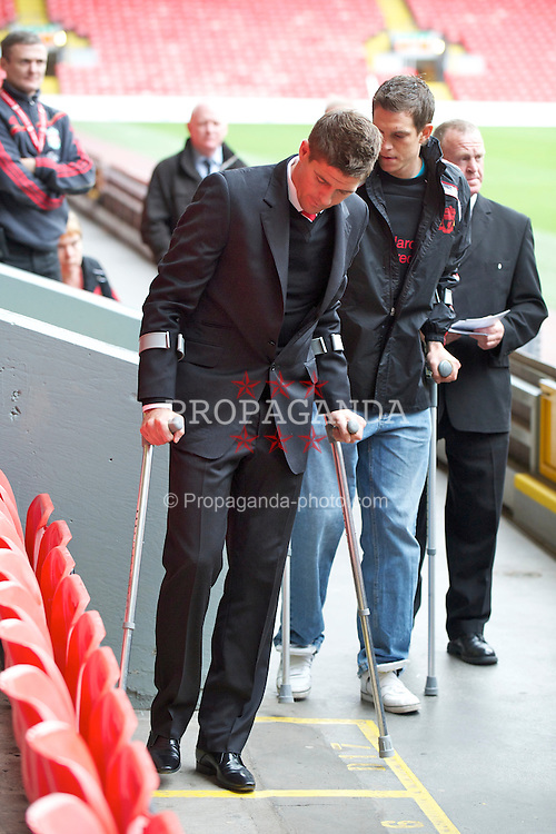 LIVERPOOL, ENGLAND - Friday, April 15, 2011: Liverpool's captain Steven Gerrard at the Memorial Service to remember the 96 victims of the Hillsborough Stadium Disaster in 1989. (Photo by David Rawcliffe/Propaganda)