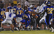 Oxford High's Toler Presley (14) vs. Senatobia in high school football in Oxford, Miss. on Friday, September 9, 2011. Oxford won 40-20.