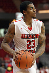 29 November 2014:  Deontae Hawkins during an NCAA men's basketball game between the Youngstown State Penguins and the Illinois State Redbirds  in Redbird Arena, Normal IL.