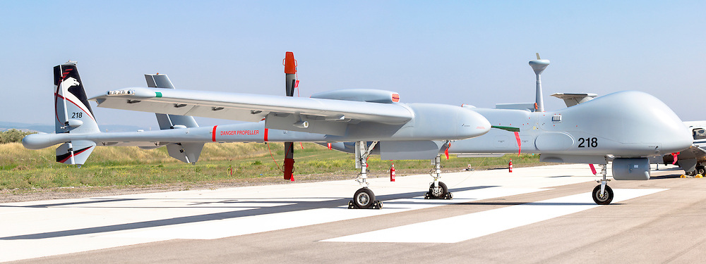 Israeli Air force (IAF) IAI Heron TP (IAI Eitan) an Unmanned Aerial Vehicle (UAV) developed by the Malat division of Israel Aerospace Industries.