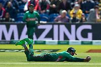 8 June 2019_cricket_CWC 2019_England v Bangladesh<br /> <br /> Jonny Bairstow is <br /> c Mehidy Hasan Miraz b Mashrafe Mortaza<br /> <br /> <br /> in the ICC Cricket World Cup at Cardiff<br /> <br /> pic © winston bynorth
