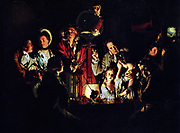 An Experiment on a Bird in the Air Pump' 1768, painted by Joseph Wright 'of Derby'1734 - 1797, English artist.
