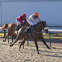 Thecornishcowboy and Adam Kirby winning the 12.00 race