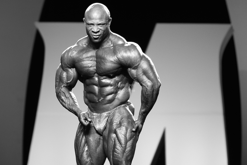 Marcus Haley competing at the 2010 Mr. Olympia finals in Las Vegas.