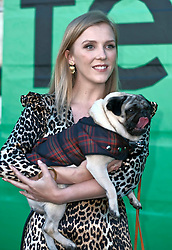 Edinburgh International Film Festival, Thursday, 28th June 2018<br /> <br /> PATRICK (SPECIAL SCREENING)<br /> <br /> Pictured:  Beattie Edmondson with Harley the dog<br /> <br /> <br /> (c) Alex Todd | Edinburgh Elite media