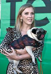 Edinburgh International Film Festival, Thursday, 28th June 2018<br /> <br /> PATRICK (SPECIAL SCREENING)<br /> <br /> Pictured:  Beattie Edmondson with Harley the dog<br /> <br /> <br /> (c) Alex Todd | Edinburgh Elite media