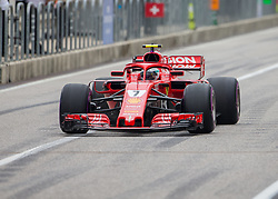 October 20, 2018 - Austin, USA - Scuderia Ferrari driver Kimi Raikkonen (7) of Finland in pit row during the third practice session at the Circuit of the Americas in Austin, Texas on Saturday, Oct. 20, 2018. (Credit Image: © Scott Coleman/ZUMA Wire)