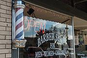 Bluejay's Barber Shop in Enid, Oklahoma