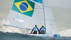 2012 Olympic Games London / Weymouth<br /> Scheidt Robert, Prada Bruno, (BRA, Star)