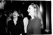 Tiffany Dubin and Judy  Taubman. Sotheby's. New York. 1996. © Copyright Photograph by Dafydd Jones 66 Stockwell Park Rd. London SW9 0DA Tel 020 7733 0108 www.dafjones.com