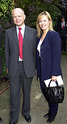 MR & MRS WILLIAM HAGUE, he is the leader of the Conservative<br />  Party, at a reception in London on 19th June 2000.OFM 22<br /> © Desmond O'Neill Features:- 020 8971 9600<br />    10 Victoria Mews, London.  SW18 3PY <br /> www.donfeatures.com   photos@donfeatures.com<br /> MINIMUM REPRODUCTION FEE AS AGREED.<br /> PHOTOGRAPH BY DOMINIC O'NEILL