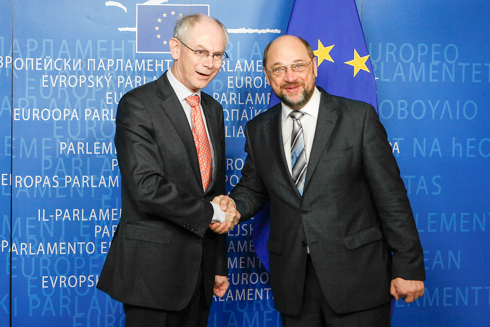 Martin SCHULZ, EP President meets with Herman VAN ROMPUY - President of the European Council