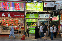 Various nationalities live in Kowloon, Hong Kong.