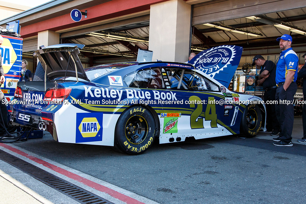 SONOMA, CA - JUNE 24:  Monster Energy NASCAR Cup Series driver Chase Elliott (24)'s car during preparation for qualifying at the Monster Energy NASCAR Cup Series Qualifying held June 24, 2017 at Sonoma Raceway in Sonoma, CA. (Photo by Allan Hamilton/ICON Sportswire)