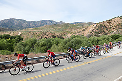The lead group speed by at Amgen Tour of California Women's Race empowered with SRAM 2019 - Stage 3, a 126 km road race from Santa Clarita to Pasedena, United States on May 18, 2019. Photo by Sean Robinson/velofocus.com
