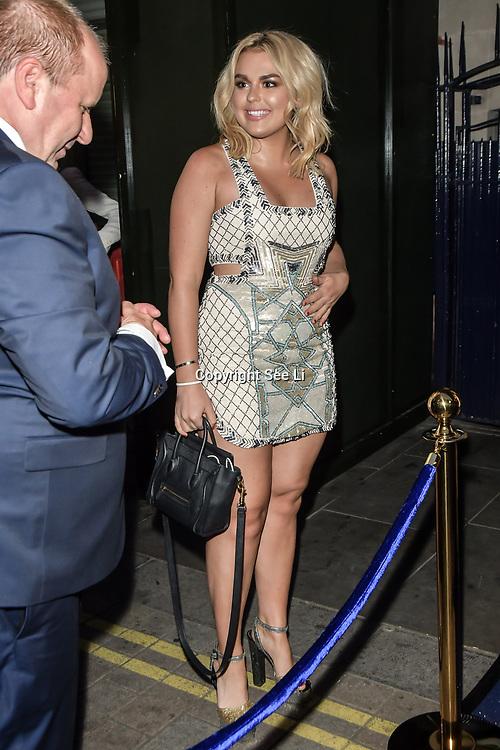 Tallia Storm arrives at Tramp Members Club 40 Jermyn Street, on 23 May 2019, London, UK.