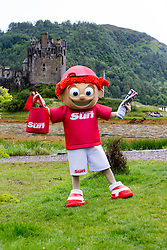 Sunny's tour of Scotland. At  Eilean Donan Castle in Kyle of Lochalsh.