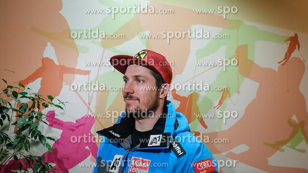 23.01.2017, Planai, Schladming, AUT, FIS Weltcup Ski Alpin, Slalom, Herren, Startnummernauslosung, im Bild Marcel Hirscher (AUT) // Marcel Hirscher of Austria during the bibdraw prior to the Schladming FIS Ski Alpine World Cup 2017 at the Planai in Schladming, Austria on 2017/01/23. EXPA Pictures © 2017, PhotoCredit: EXPA/ Martin Huber
